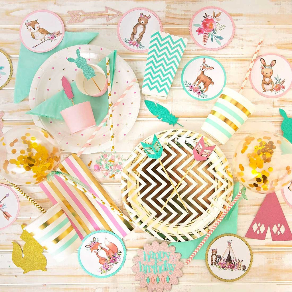 Wild - Pink, Mint, Gold and White Party in a Box-Oh My Party
