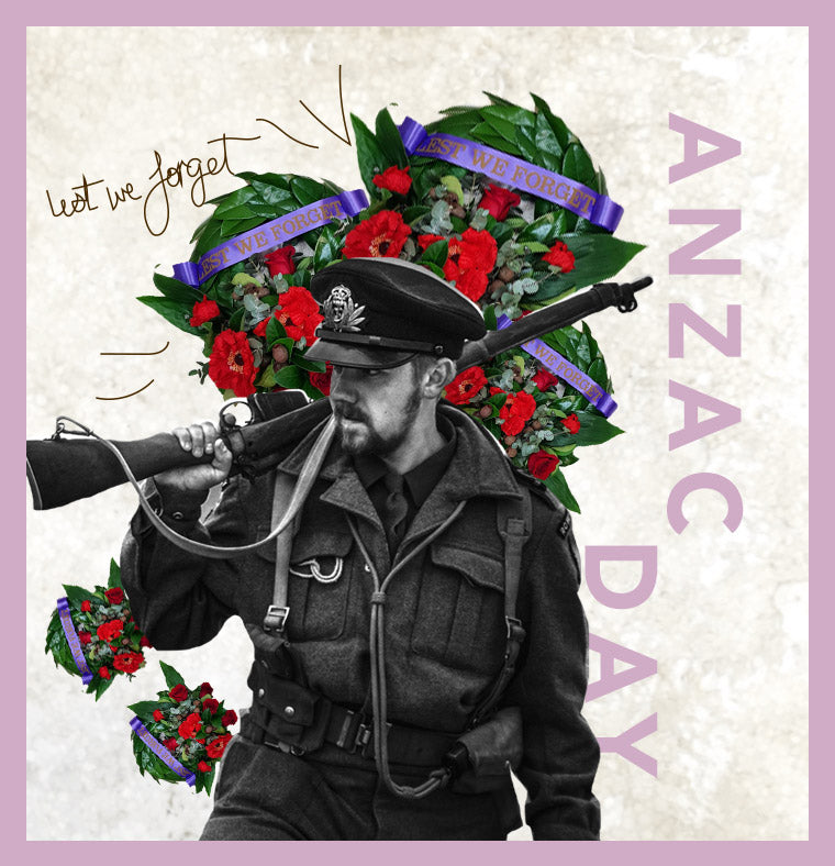 ANZAC Day wreaths and flowers