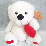 Teddytime Love Teddy Bear in White (25cm)