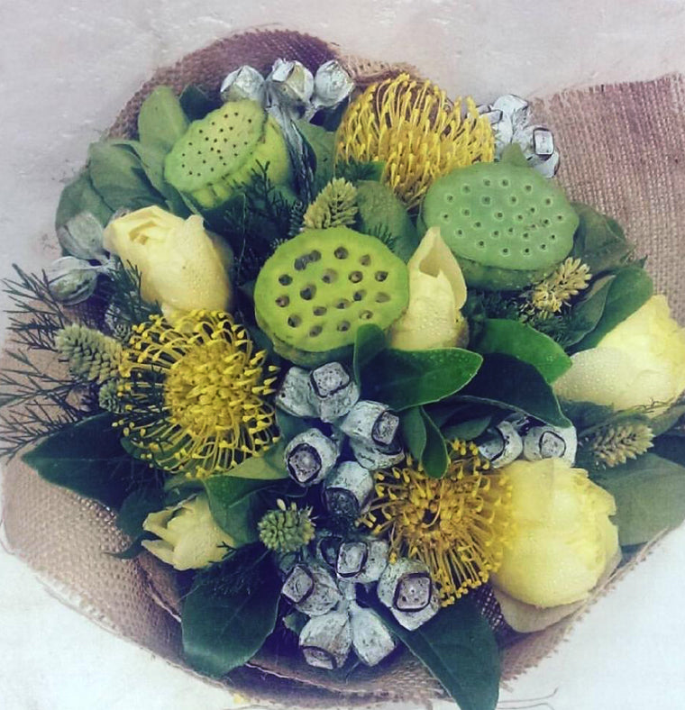 Green and Lemon Posy