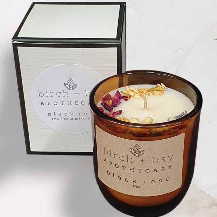 Birch + Bay Candle: Black Rose