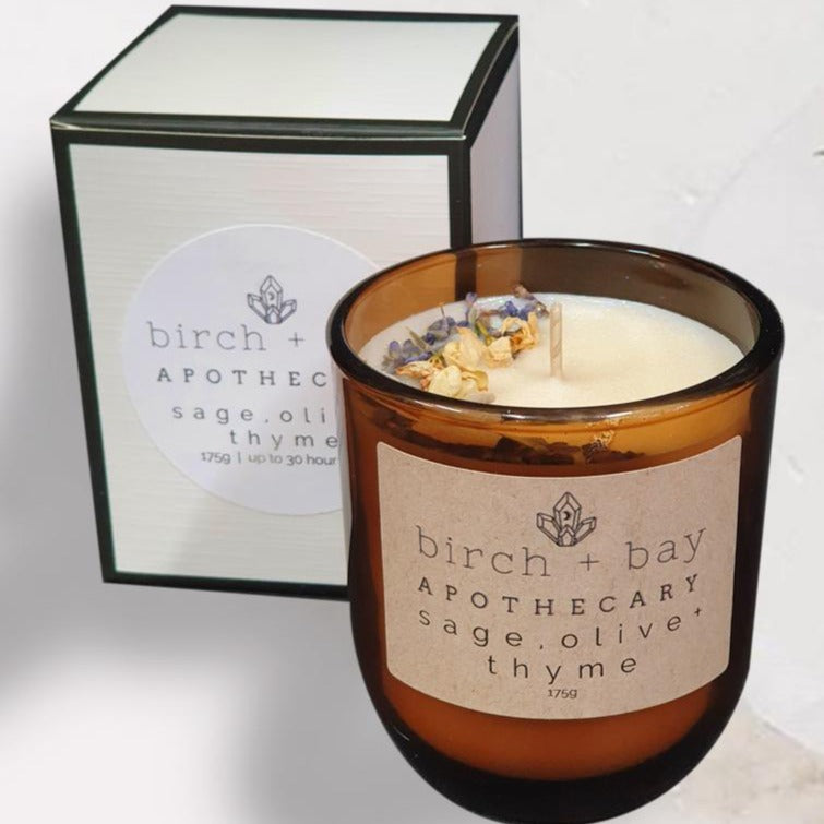 Birch + Bay Candle: Sage, Olive and Thyme