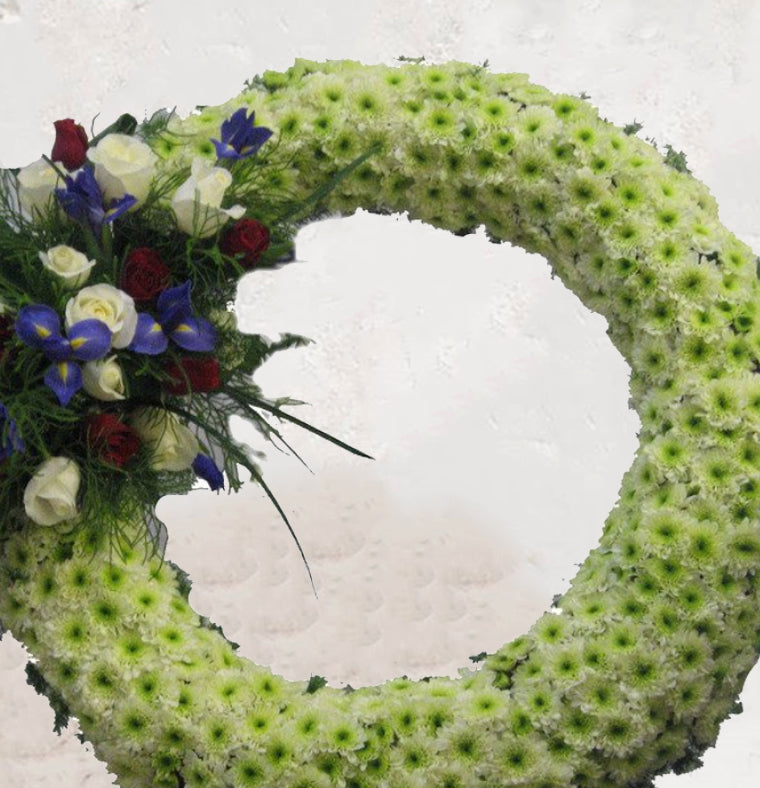 Funeral Wreath of Spray and Chrysanthemums