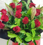 Roses (Red or Coloured) in Bouquet or Vase