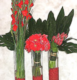 Three Red Vases