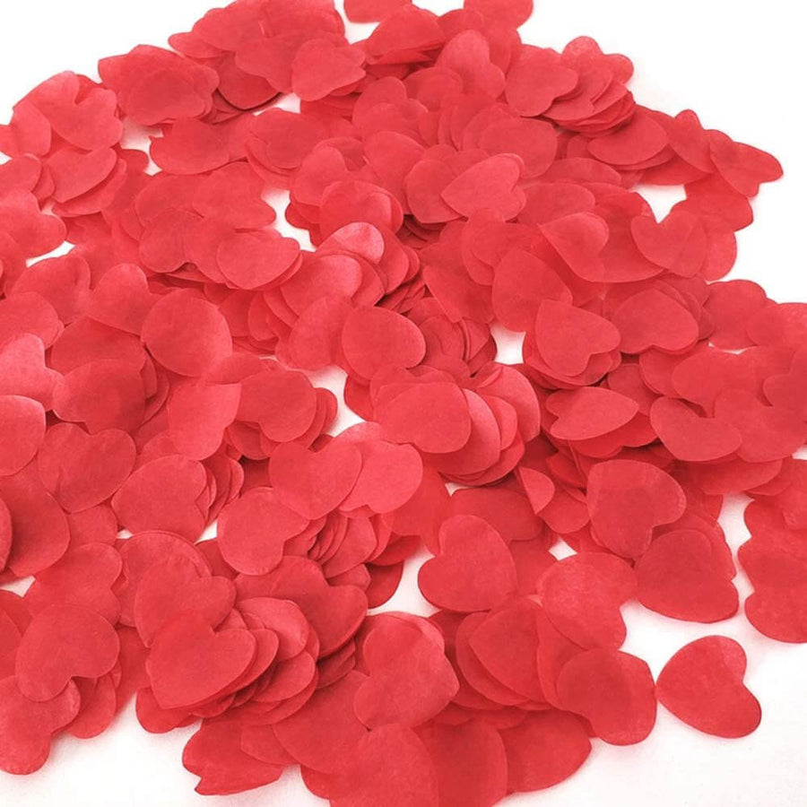 20g 1.5cm Heart Shaped Tissue Paper Confetti Table Scatters - Red