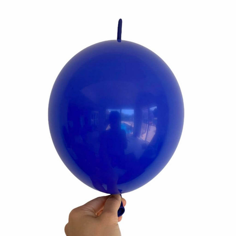 "10"" Latex Linking Tail Balloon 10 Pack - Electric Blue"