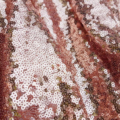 108 Inch Rose Gold Sequin Table Runner - Online Party Supplies