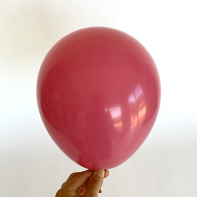 "10"" Retro Colour Latex Balloon 10 Pack - retro hot pink"