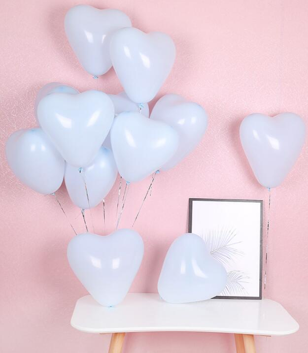 12 Inch Helium Quality Pastel Baby Blue Macaron Candy Latex Balloon Bouquet - Wedding Party Decorations