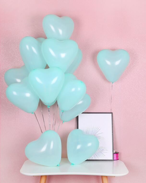 12 Inch Helium Quality Pastel Tiffany Blue Macaron Candy Latex Balloon Bouquet - Wedding Party Decorations