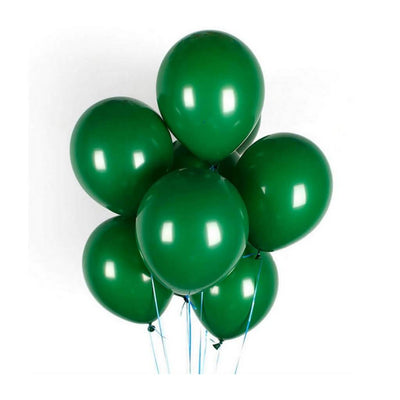 10 counts 12 Inch Forest Green Latex Balloon Bouquet - Christmas Party Decorations