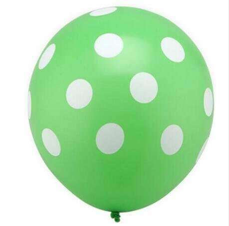 "12"" Online Party Supplies Green Polka Dot Latex Balloon Bouquet (Pack of 10)"