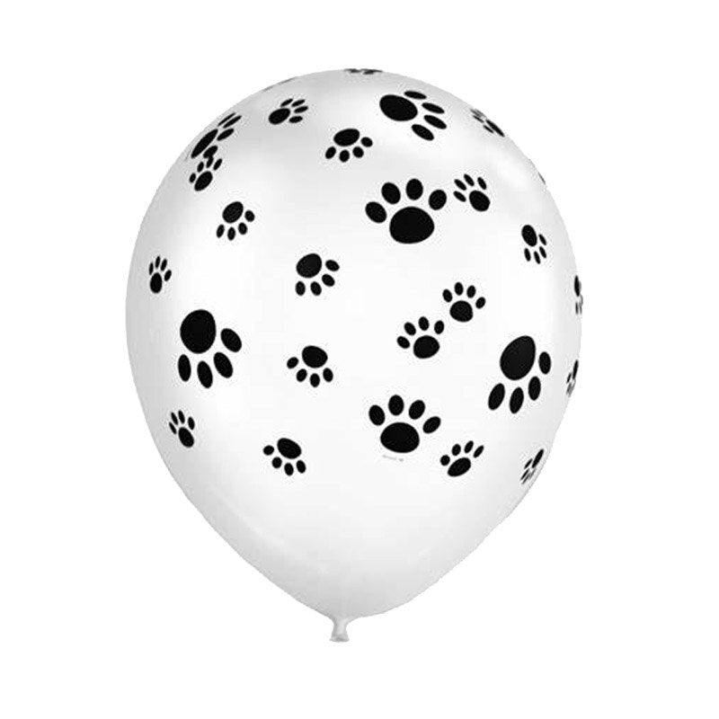 "12"" Safari Animal Paw Print Latex Balloon 10 Pack - Safari Animal, Jungle Animal, Dog, Cat, Zoo Themed Party Decorations"