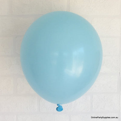 Online Party Supplies 12 inch 3.2g thickened light blue colour latex balloon pack of 10