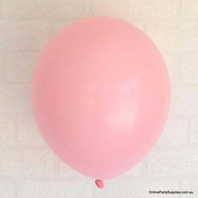 Online Party Supplies 12 inch 3.2g thickened baby pink colour latex balloon pack of 10
