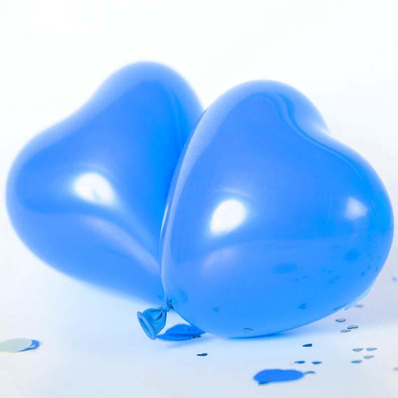 12 Inch Helium Quality Blue Heart Balloon Bouquet - Wedding Party Decorations
