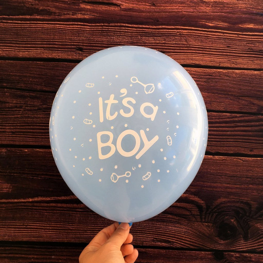 12 Inch Blue It's A Boy Latex Balloon (Pack of 10) - Online Party Supplies