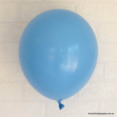 Online Party Supplies 12 inch 3.2g thickened blue colour latex balloon pack of 10