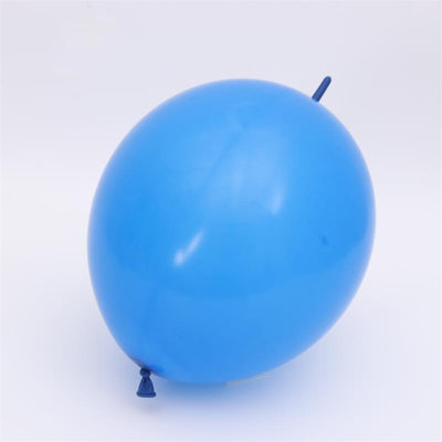 Online Party Supplies 12 Inch 2.8g Thickened Helium Quality Blue Linking Balloons