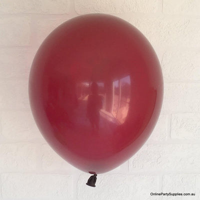 Online Party Supplies 12 inch 3.2g thickened burgundy colour latex balloon pack of 10