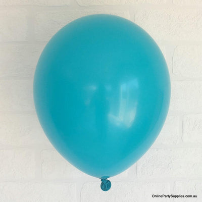 Online Party Supplies 12 inch 3.2g thickened Caribbean blue colour latex balloon pack of 10
