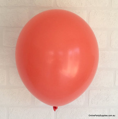 Online Party Supplies 12 inch 3.2g thickened coral colour latex balloon pack of 10