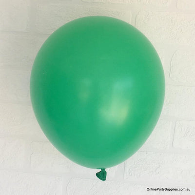 Online Party Supplies 12 inch 3.2g thickened dark green colour latex balloon pack of 10