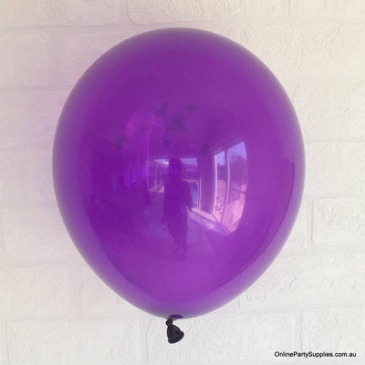 Online Party Supplies 12 inch 3.2g thickened dark purple colour latex balloon pack of 10