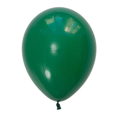 12 Inch Forest Green Latex Party Balloon - Christmas Party Decorations