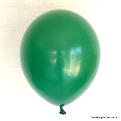 Online Party Supplies 12 inch 3.2g thickened forest green colour latex balloon pack of 10