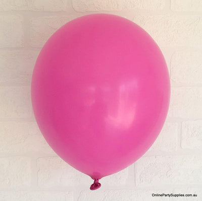 Online Party Supplies 12 inch 3.2g thickened fuchsia colour latex balloon pack of 10
