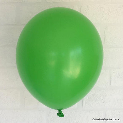 Online Party Supplies 12 inch 3.2g thickened green colour latex balloon pack of 10