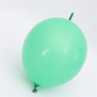 Online Party Supplies 12 Inch 2.8g Thickened Helium Quality Green Linking Balloons