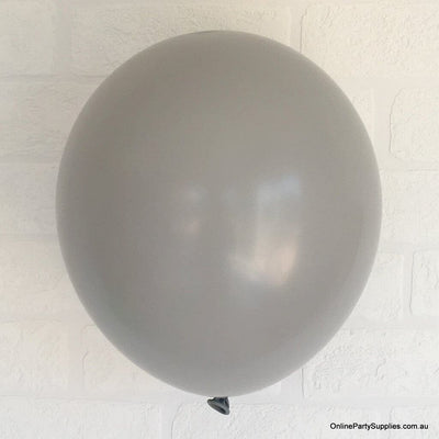 Online Party Supplies 12 inch 3.2g thickened grey colour latex balloon pack of 10
