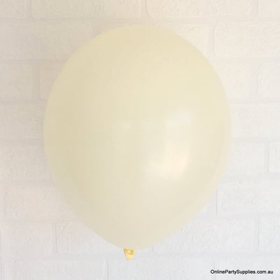 Online Party Supplies 12 inch 3.2g thickened ivory beige cream nude colour latex balloon pack of 10