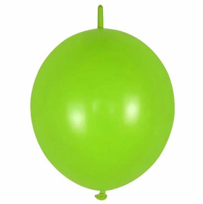 12 Inch 2.8g Thickened Helium Quality Linking Balloons - Lemon Green