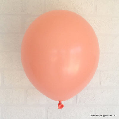 Online Party Supplies 12 inch 3.2g thickened light coral colour latex balloon pack of 10