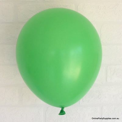 Online Party Supplies 12 inch 3.2g thickened light green colour latex balloon pack of 10