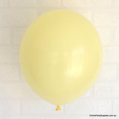 Online Party Supplies 12 inch 3.2g thickened light yellow colour latex balloon pack of 10