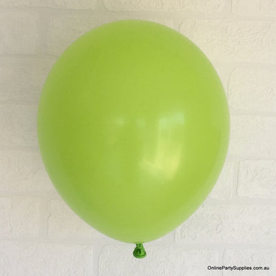Online Party Supplies 12 inch 3.2g thickened lime colour latex balloon pack of 10
