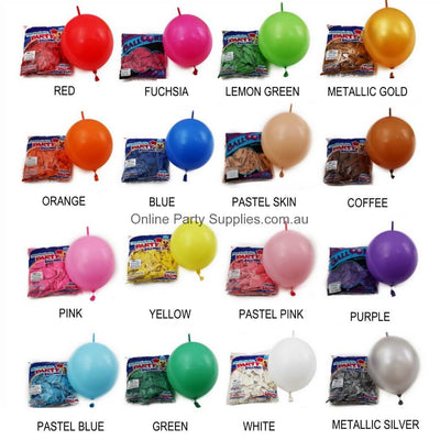12 Inch 2.8g Thickened Helium Quality Linking Balloons - colour chart