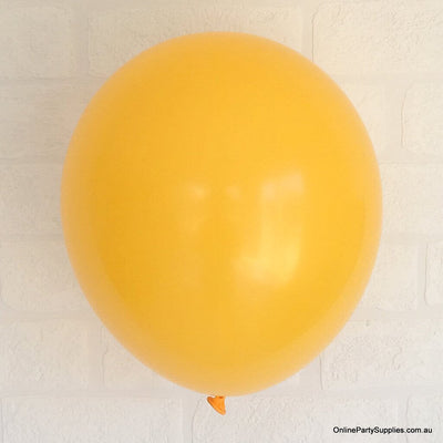 Online Party Supplies 12 inch 3.2g thickened mango colour latex balloon pack of 10