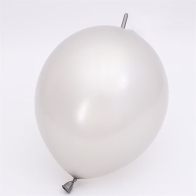 12 Inch 2.8g Thickened Helium Quality Linking Balloons - Metallic grey