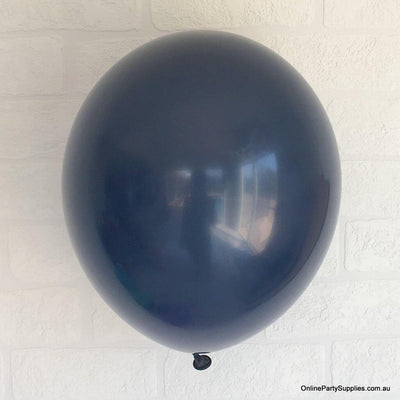 Online Party Supplies 12 inch 3.2g thickened midnight blue colour latex balloon pack of 10