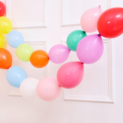 Online Party Supplies 12 Inch 2.8g Thickened Helium Quality Linking Balloons