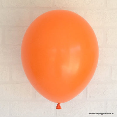 Online Party Supplies 12 inch 3.2g thickened orange colour latex balloon pack of 10