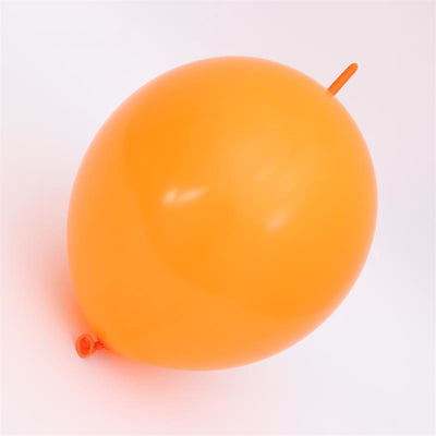 Online Party Supplies 12 Inch 2.8g Thickened Helium Quality Orange Linking Balloons