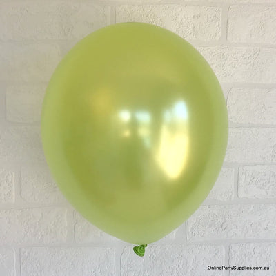 "12"" 3.2g Thickened Pearl Lime Green Latex Party Balloon Bouquet (10 pieces)"