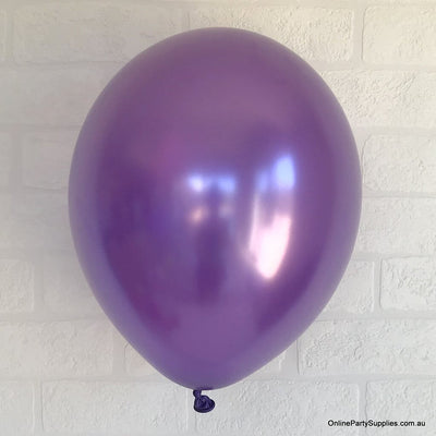 "12"" 3.2g Thickened Pearl Purple Latex Party Balloon Bouquet (10 pieces)"